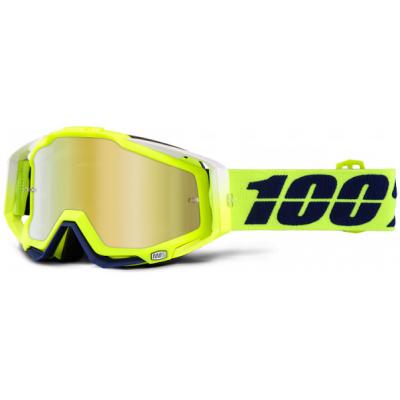 100% brýle RACECRAFT Tanaka mirror/gold