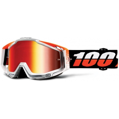 100% brýle RACECRAFT Ultrasonic mirror/red