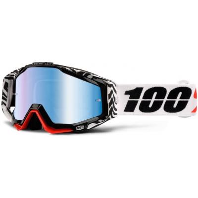100% brýle RACECRAFT Zoolander mirror/blue