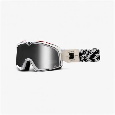 100% okuliare BARSTOW CLASIC Death Spray silver lens