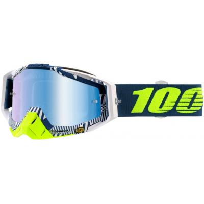 100% brýle RACECRAFT Eclipse mirror blue