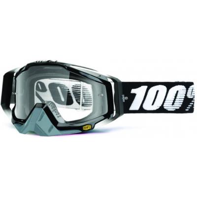 100% okuliare RACECRAFT Abyss Black clear
