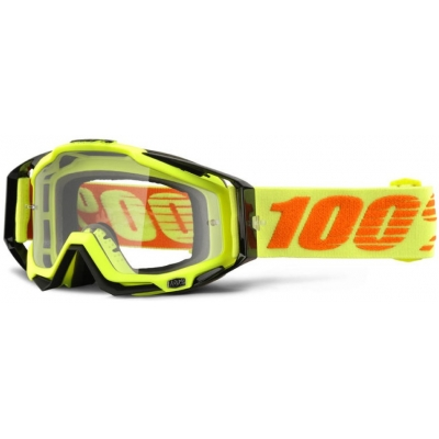 100% okuliare RACECRAFT Attack Yellow clear