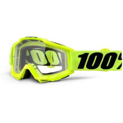 100% okuliare ACCURI Fluo Yellow clear