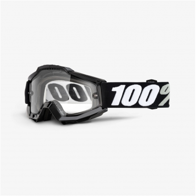 100% okuliare ACCURI Enduro Tornado black clear