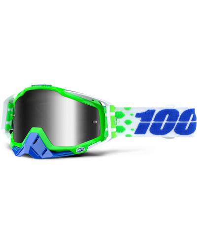 100% brýle RACECRAFT Alchemy mirror/silver