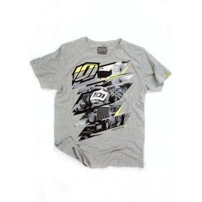 101 RIDERS tričko ASPHALT grey