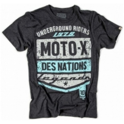 101 RIDERS tričko NATIONS 75 charcoal heather