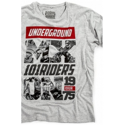 101 RIDERS tričko MXON heather grey