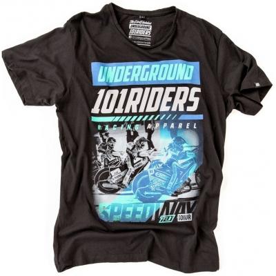 101 RIDERS tričko SPEEDWAY 17 black / blue