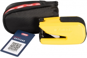 ABUS kotoučový zámek GRANIT DETECTO SmartX 8078 Alarmový yellow