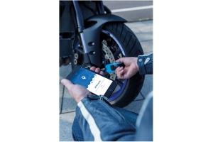 ABUS kotoučový zámek GRANIT DETECTO SmartX 8078 Alarmový blue