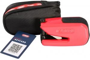 ABUS kotoučový zámek GRANIT DETECTO SmartX 8078 Alarmový red