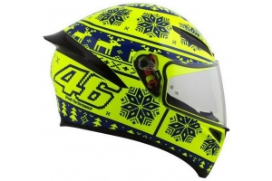 AGV přilba K-1 Winter Test 2015 yellow/blue