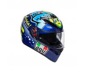 AGV přilba K-3 SV Rossi Misano 2015 blue/yellow