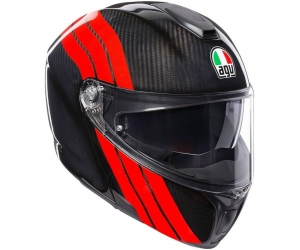 AGV přilba SPORTMODULAR Stripes carbon/red