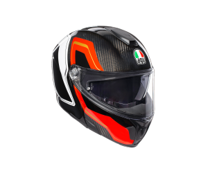 AGV prilba SPORTMODULAR Sharp carbon / red / white