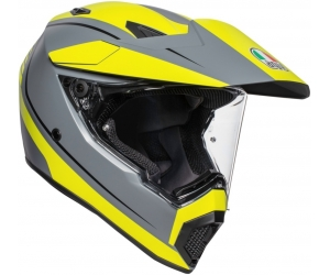 AGV přilba AX9 Pacific Road grey/ fluo yellow matt
