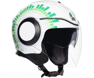 AGV prilba ORBYT Ginza Italy white/green/red