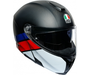 AGV prilba SPORTMODULAR Layer carbon / red / blue