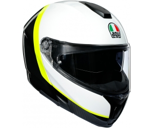 AGV prilba SPORTMODULAR Ray carbon / White / yellow fluo