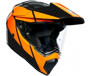AGV přilba AX9 Trail gunmetal/orange