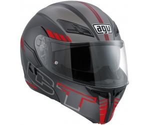 AGV přilba COMPACT ST Seattle matt black/silver/red
