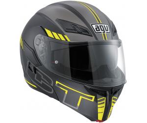 AGV přilba COMPACT ST Seattle matt black/silver/yellow fluo