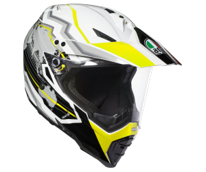 AGV přilba AX-8 DUAL EVO Earth black/yellow fluo