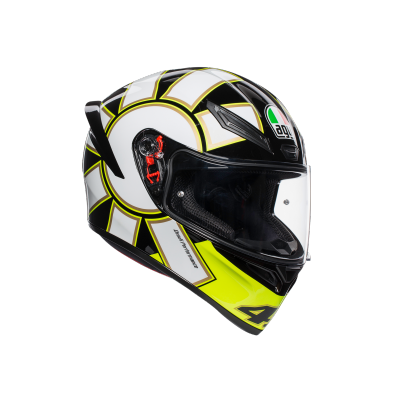 AGV prilba K-1 Gothic 46 white/yellow/black