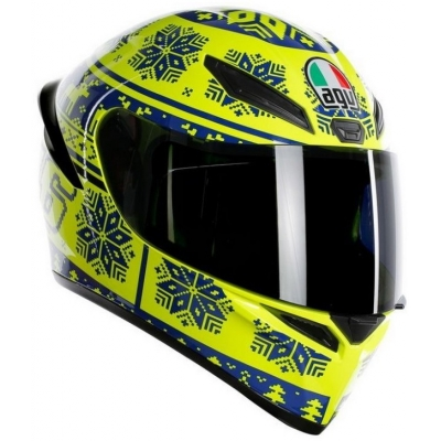 AGV prilba K-1 Winter Test 2015 yellow/blue