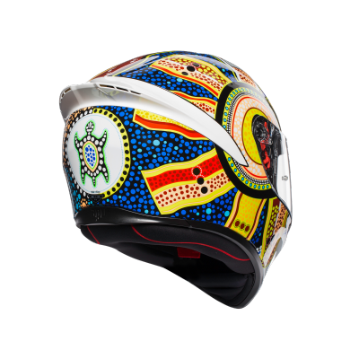 AGV prilba K-1 Dreamtime white/blue/yellow/red