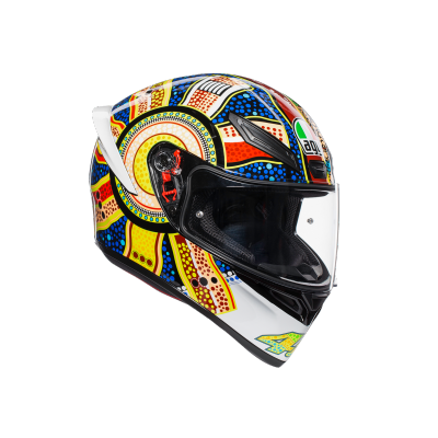 AGV přilba K-1 Dreamtime white/blue/yellow/red