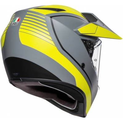 AGV prilba AX9 Pacific Road grey/fluo yellow matt