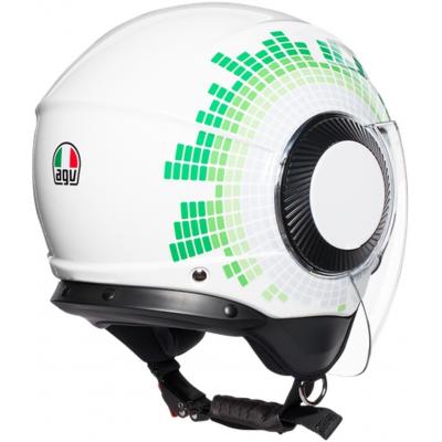 AGV prilba ORBYT Ginza Italy white/green/red