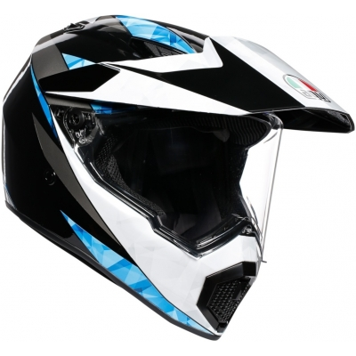 AGV prilba AX9 North black/white/cyan