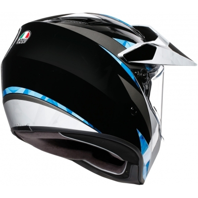AGV přilba AX9 North black/white/cyan