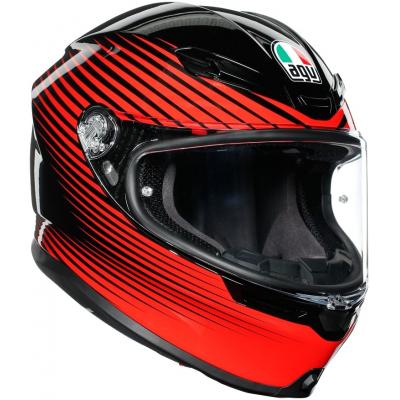 AGV prilba K-6 Rush black / red