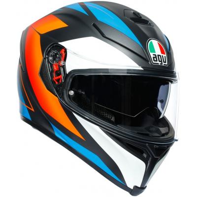 AGV prilba K-5 S Core matt black / blue / orange