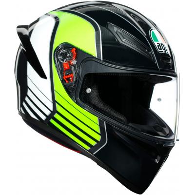 AGV přilba K-1 Power gunmetal/white/green
