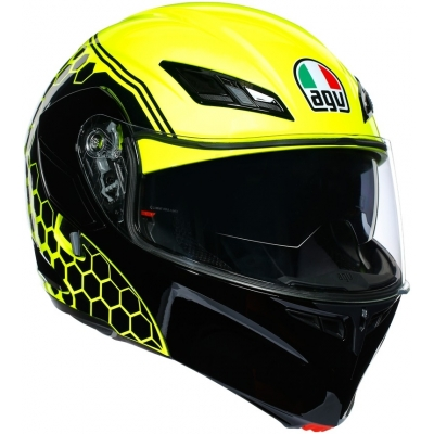 AGV přilba COMPACT ST Detroit yellow fluo/black