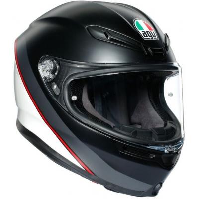 AGV prilba K-6 Minimal matt black / white / red
