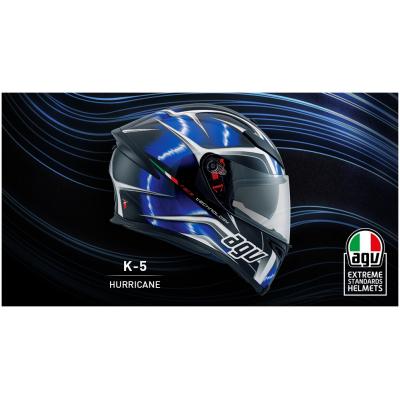 AGV přilba K-5 S Hurricane black/blue/white
