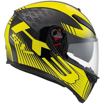 AGV přilba K-3 SV PLK Glimpse black metal/yellow
