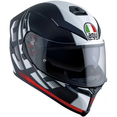 AGV prilba K-5 S Darkstorm matt black / red