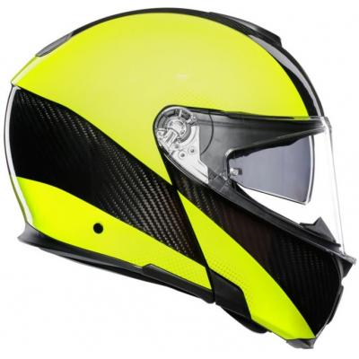 AGV přilba SPORTMODULAR Hi-vis carbon/yellow fluo