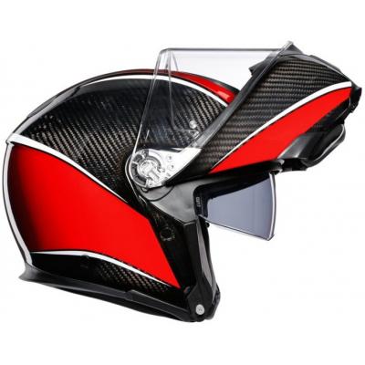 AGV prilba SPORTMODULAR Aero carbon / red