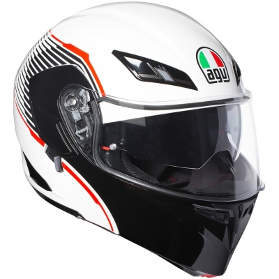 AGV přilba COMPACT ST Vermont white/black/red