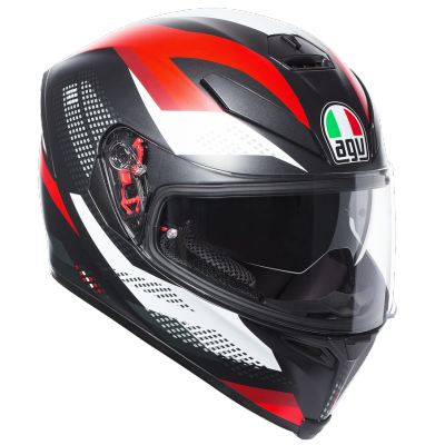 AGV prilba K-5 S Marble black / white / red