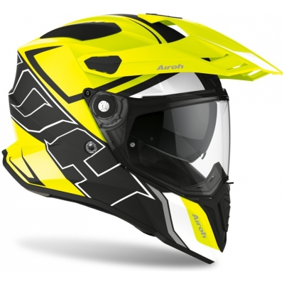 AIROH prilba COMMANDER Duo matt fluo yellow / black / white